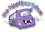 Hippo Party Bus Logo